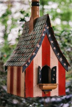 Independence Day Bird House