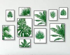 Tropical Home Decor, Tropical Decor, Tropical Furniture, Tropical Interior, Tropical Colors, Leaf Prints, Art Prints, Fleur Design, Green Wall Art