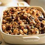 Sourdough Stuffing with Pears and Sausage Recipe | MyRecipes.com
