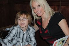 My son Preston the main character in my book, for My 1st book launch party/signing.