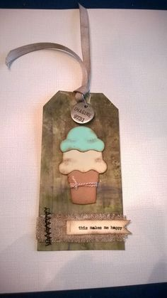 Tim Holtz's tags of 2015~ My take on June 2015 #12Tags2015...no coffee cup so I went with an ice cream cone