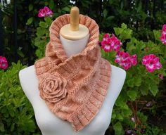 Ruffled and Ruched Scarf PDF Knitting Pattern por PamPowersKnits