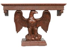 American Neoclassical Hand Carved Eagle by HarveysonBeverly, $12500.00