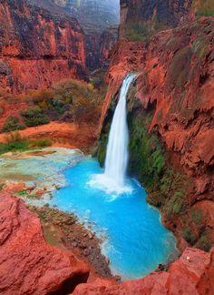 Havasu Falls, Grand Canyon, Arizona.... Can't wait to see this on my next trip!