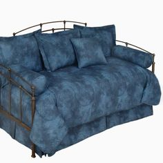 $149.99 Caribbean Coolers Tie Dye Indigo Blue Daybed Bedding in 9 color choices, 250 TC 100% Cotton.   http://www.delectably-yours.com/Caribbean-Coolers-5-Pc-Tie-Dye-Daybed-Comforter-Set-9-Color-Choices-P388.aspx#.UXl3Boy9KSN