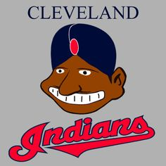Cleveland indians Mascot in a Turban Depicting Native Moors as Indians from Cleveland