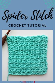 We have a BRAND NEW full tutorial for how to crochet the spider stitch courtesy of Rhondda from Oombawka Design Crochet.Spider stitch crochet results in a gorgeous design, far less scary than it sounds. this tutorial will teach you how to do a crochet spi Beginner Crochet Tutorial, Beginner Crochet Projects, Crochet Instructions, Crochet Tutorials, Crochet Ideas, Tunisian Crochet Stitches, Crochet Stitches For Beginners, Crochet Stitches Patterns, Crochet Designs