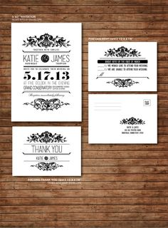 Elegant Vintage Victorian wedding Invitation by DallinsPaperie, $30.00