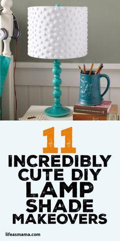 11 Incredibly Cute DIY Lamp Shade Makeovers
