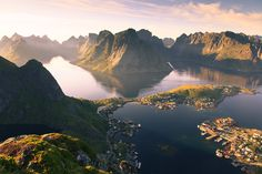 Moments before the sunrise:  Reine, Norway