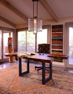 Beautiful office desk from www.thearrangement.com