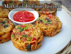 Kitchen Recipes, Raw Food Recipes, Snack Recipes, Cooking Recipes, Healthy Recipes, Healthy Ranch Recipe, Mie Goreng, Savory Snacks, Indonesian Food