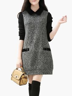 Spread Neck Pockets Sweater Dress Source by prelel Dresses Stylish Dresses, Casual Dresses For Women, Stylish Outfits, Cute Dresses, Clothes For Women, Kurta Designs, Hijab Fashion, Fashion Dresses, Women's Fashion