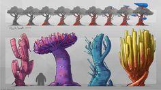 ArtStation - Alien trees, Felix Riaño