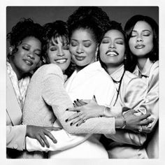 Original cast of Waiting To Exhale ... #ripwhitney