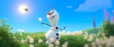 A snowman in summer. A sidekick can dream, can't he?