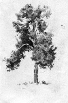 55 ideas landscape sketch pencil deviantart for 2019 Landscape Sketch, Landscape Drawings, Cool Landscapes, Landscape Paintings, Tree Sketches, Drawing Sketches, Art Drawings, Sketching, Tree Drawings Pencil