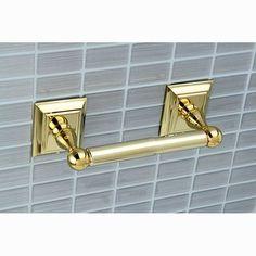 Kingston Brass Millennium Wall Mounted Toilet Paper Holder Finish: Polished Brass