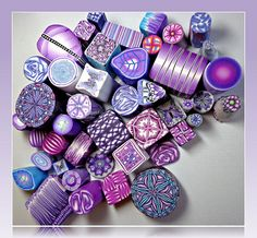 "Polymer Clay Purple ""Raw"" Canes, via Flickr. Some of my miniature canes"