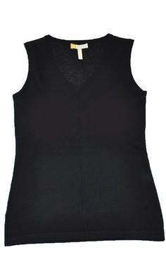 Black Cashmere Sleeveless V Neck Tank | HeartHabits Deliciously Beautiful Things to Wear
