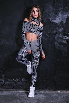 068f7d4e546a3 Circuit Board Black Leggings, rave outfit, unique yoga leggings, , printed  leggings for Burning man, women festival clothing, cyber goth