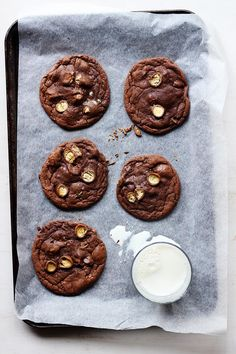 Brown Butter Chocolate Malted Cookies