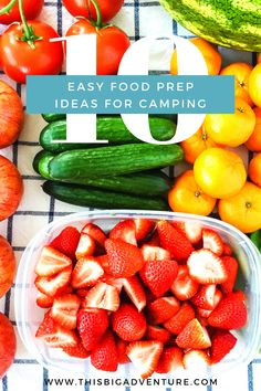 Here are 10 Easy Food Prep Tips for Camping!  Simple and practical tips you can do at home to make your camping experience less stressful! Fruit And Vegetable Wash, Vegetable Prep, Food Prep, A Food, Easy Meal Prep, Easy Meals, Making Burger Patties, Pre Made Meals, Healty Dinner