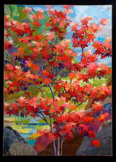 Another beautiful one by Sue Benner. http://artquilttahoe.com/gallery/ maybe do this with a poinciana tree....