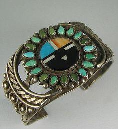 Zuni Sunface Cuff Bracelet