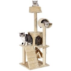 "Ollieroo 52"" Pet Kittens Cat Tree Condo Furniture Scratching Post Cat Kitten House Small Great For Kittens (Beige) -- Check out this great product. (This is an affiliate link) #CatActivityTrees"