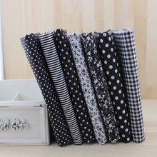 7 unids negro Tela de Algodón para coser BRICOLAJE patchwork quilting craft Muñeca Tilda Textiles Tela scrapbooking(China (Mainland))