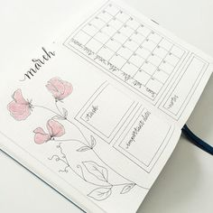bujo bullet journal inspiration and weekly spreads Bullet Journal Inspo, March Bullet Journal, Bullet Journal Monthly Spread, Journal Inspiration, Bujo, Planner Diario, Kalender Design, Journal Pages, Journals