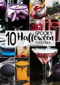 Don't miss serving these Spooky Halloween Cocktails at your Halloween bash! These are the most ghoulishly good cocktail recipes for the best Halloween party