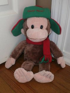 """CURIOUS GEORGE 14"""" STUFFED animal PLUSH TOY wearing HAT, SCARF winter SOFT #GUND Curious George, Animals For Kids, Stuffed Animals, Plush, Teddy Bear, Gift Ideas, Toys, Winter, Gifts"""