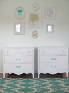 Pair French Provincial White Painted Chest by TheGoldenNest