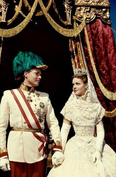 "Perfect love ~ Romy Schneider and Karlheinz Böhm starring as Empress Elisabeth of Austria, known as ""Sissi"" and Emperor Franz Joseph I of Austria"