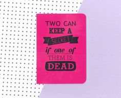 Pretty little liars pink notebook  two can keep a secret if