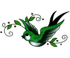 swallow tattoos - I like this in blue