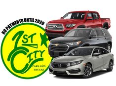 No need to stress over holiday expenses. Purchase your vehicle at First City Cars and Trucks and have NO payments until Ask our non-commissioned Sales Staff for details! City Car, Stress, Trucks, Cars, Vehicles, Holiday, Vacation, Autos, Rolling Stock