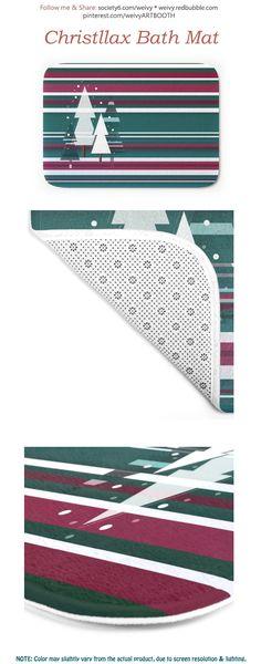 Christllax, the Pre-Xmas Art Bath Mat by weivy Face Towel, Floor Mats, Hand Towels, Red Green, Bath Mat, Duvet, Snowman, Xmas, Tapestry