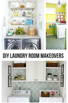 Super helpful ideas and inspiration for my laundry room makeover.  I have a small laundry room and these pictures really helped me get ideas.