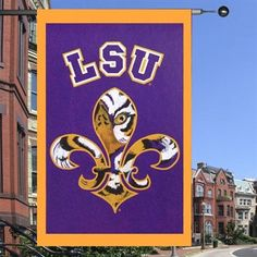 LSU Tigers 28'' x 44'' Fleur de Tigre Applique Flag