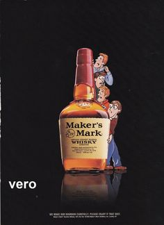 2006 Magazine Ad MAKERS MARK Whisky Alcohol Advertisement Print Cartoon