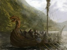Viking longships are the inspiration for the merchant ships in my book's mythos.