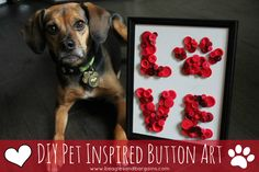 Need a homemade gift for your favorite dog mom? Want a fun way to spend time with a pet lover? Try out this craft tutorial for DIY pet inspired button art!