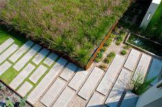 Concrete Paver Path  Modern Landscaping  Hocker Design Group  Dallas, TX