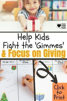 Use these free printables from Coffee and Carpool to help kids combat the gimmes and focus on giving during Christmas, Hanukkah, and birthday seasons. Check out these great parenting tips to focus on the important things. Giving, Parenting Hacks, Presents For Friends, Get Happy, School Readiness, Lego Friends, Free Printables, To Focus, Kindness Activities