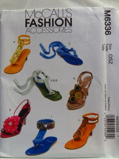 McCall's 6336 Shoe Decorations