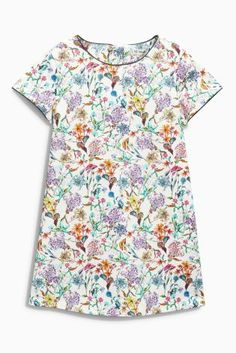 Buy Multi Floral Printed Shift Dress online today at Next: United States of America Kids Prom Dresses, Girls Easter Dresses, Latest Fashion For Women, Mens Fashion, Floral Tops, Floral Prints, Inspiration For Kids, Girl Outfits, Mens Tops