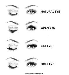 Eye look to lash type